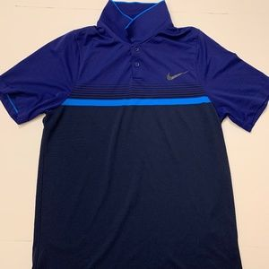 Nike tennis/golf polo dark blue (small)
